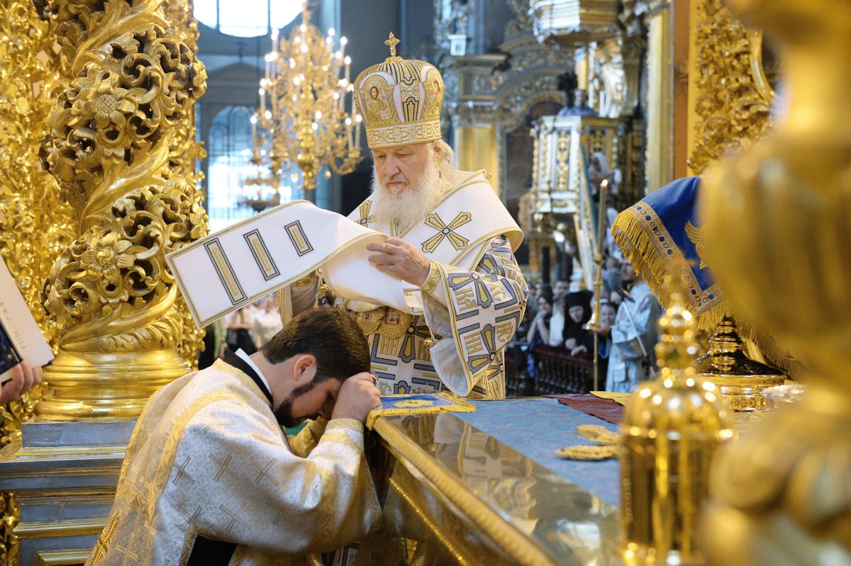 Священническая хиротония в Успенском кафедральном соборе г. Смоленска. 30 августа 2015 г.