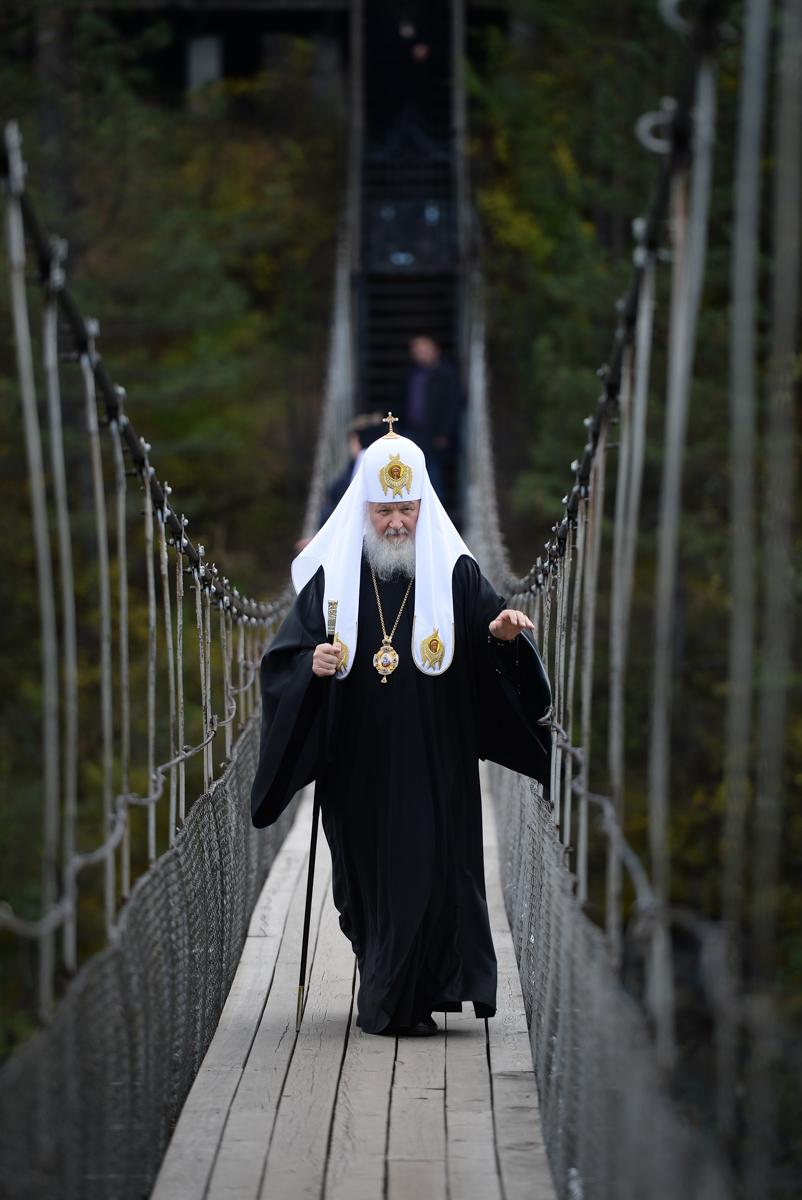 Во время посещения скита на острове Патмос в Горно-Алтайской епархии. 19 сентября 2015 г.