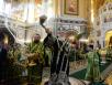 Служение в праздник Входа Господня в Иерусалим. Освящение верб. Москва. Храм Христа Спасителя. 23 апреля 2016 г.