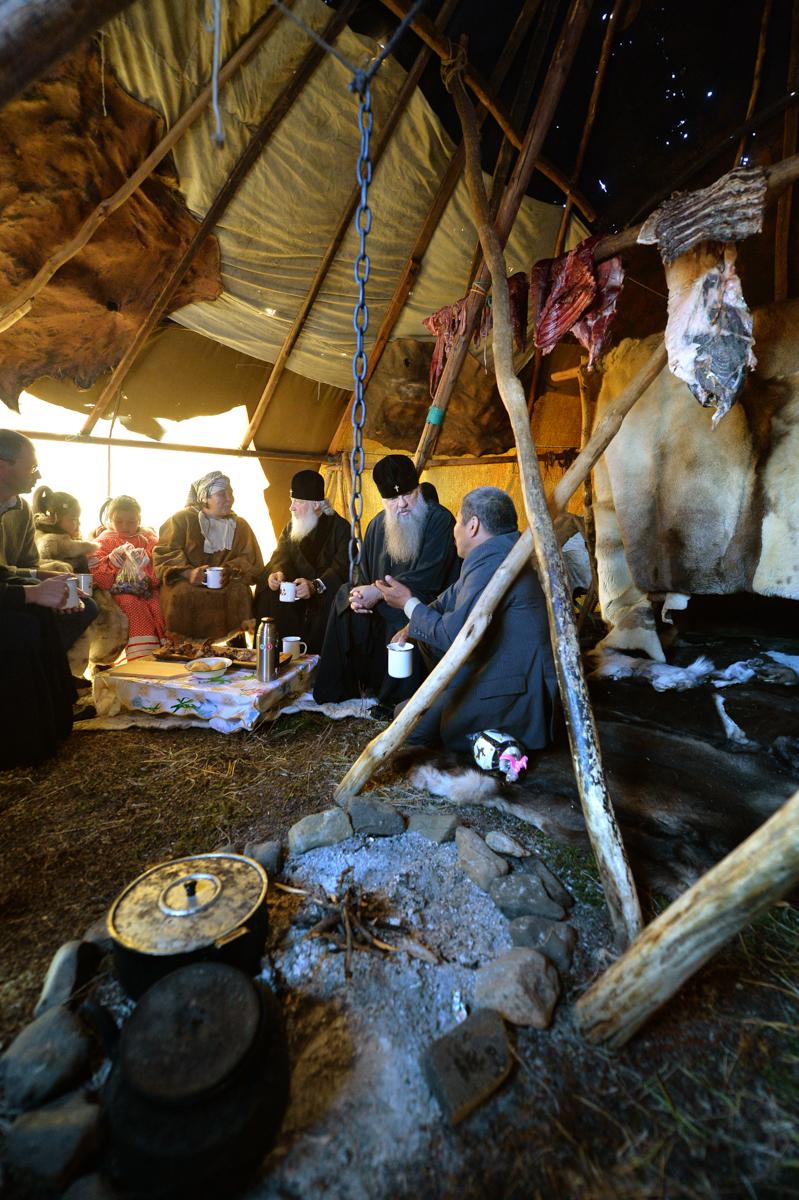 Посещение оленеводческой бригады. Канчалан, Анадырский район, Чукотский автономный округ. 7 сентября 2016 г.