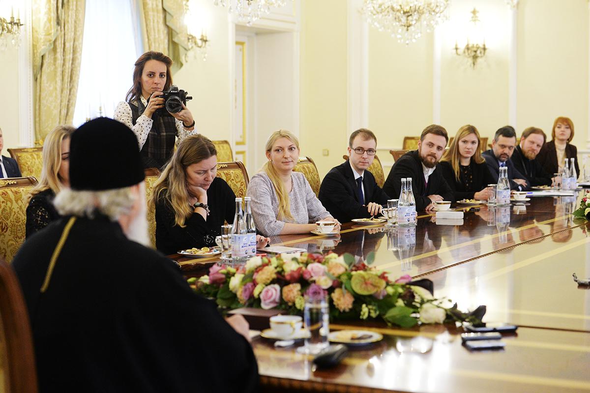 Встреча Святейшего Патриарха Кирилла с журналистами
