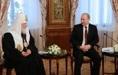 Поздравление Президента России В.В. Путина Святейшему Патриарху Кириллу с 70-летием со дня рождения