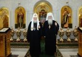 Состоялась встреча Предстоятеля Русской Православной Церкви с Блаженнейшим Митрополитом всей Америки и Канады Тихоном