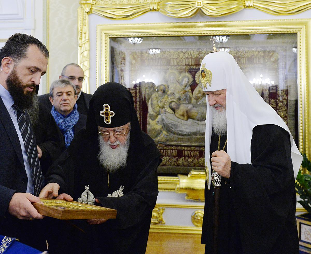 Встреча Святейшего Патриарха Кирилла со Святейшим и Блаженнейшим Католикосом-Патриархом всея Грузии Илией II