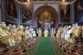 """De ziua aniversării a 70 de ani de la nașterea Sanctității Sale Patriarhul Chiril la catedrala """"Hristos Mântuitorul"""" a fost săvârșită slujba dumnezeiască praznicală"""