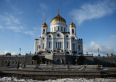 В Храме Христа Спасителя состоялся прием по случаю 70-летия Святейшего Патриарха Кирилла