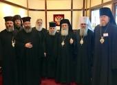 Завершилось пребывание Блаженнейшего Патриарха Иерусалимского Феофила в Русской Православной Церкви