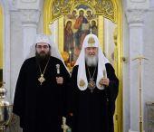 Состоялась встреча Святейшего Патриарха Кирилла с Блаженнейшим Митрополитом Чешских земель и Словакии Ростиславом