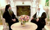 Святейший Патриарх Кирилл встретился с игуменом Русского на Афоне Пантелеимонова монастыря