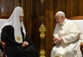 Поздравление Папы Римского Франциска Святейшему Патриарху Кириллу с 70-летием со дня рождения