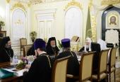 Состоялась встреча Святейшего Патриарха Кирилла с делегацией Антиохийского Патриархата