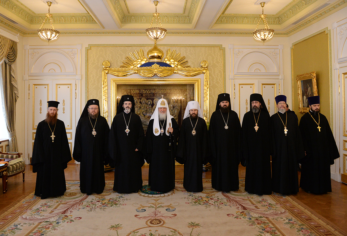 Встреча Святейшего Патриарха Кирилла с членами делегации Болгарской Православной Церкви