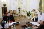 Встреча Святейшего Патриарха Кирилла с председателем Папского совета по содействию христианскому единству кардиналом Куртом Кохом