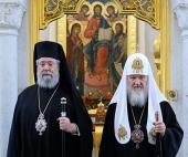 Состоялась встреча Святейшего Патриарха Кирилла с Блаженнейшим Архиепископом Кипрским Хризостомом