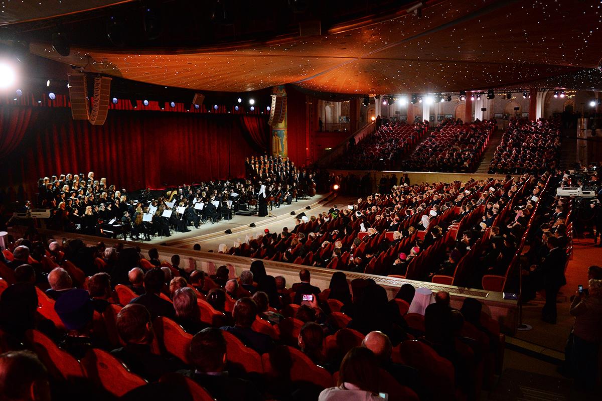 Концерт в честь 70-летия Святейшего Патриарха Кирилла в Храме Христа Спасителя