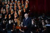 Выступление Президента Белоруссии А.Г. Лукашенко во время праздничного концерта в Храме Христа Спасителя по случаю 70-летия Святейшего Патриарха Кирилла