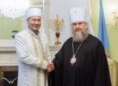 Глава Казахстанского митрополичьего округа встретился с Верховным муфтием Казахстана