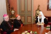 Состоялась встреча Святейшего Патриарха Кирилла с губернатором Ватикана