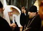 Святейший Патриарх Кирилл осмотрел новые росписи собора Христа Спасителя в Калининграде