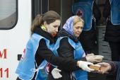 Более 300 бездомных получили помощь участников благотворительного автопробега «Надежда»