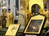 """De ziua pomenirii sfântului ierarh Filaret al Moscovei Întâistătătorul Bisericii Ortodoxe Ruse a săvârșit Liturghia la catedrala """"Hristos Mântuitorul"""" și a condus hirotonia arhimandritului Matfei (Samknulov) în treapta de episcop de Shuya și Teikovo"""
