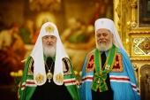 Поздравление Святейшего Патриарха Кирилла митрополиту Филиппопольскому Нифону с 75-летием со дня рождения