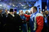 Посещение Святейшим Патриархом Кириллом Московского фестиваля национальных видов спорта