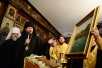Патриарший визит в Корсунскую епархию. Всенощное бдение в Трехсвятительском храме в Париже