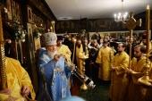Святейший Патриарх Кирилл совершил богослужение в Трехсвятительском храме в Париже
