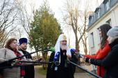 В завершение пребывания во Франции Предстоятель Русской Православной Церкви ответил на вопросы представителей СМИ