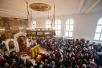 Патриарший визит в Корсунскую епархию. Литургия в храме Воскресения Христова в Цюрихе