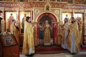 Председатель Синодального отдела по монастырям и монашеству возглавил торжества престольного праздника в Троицком Александро-Невском ставропигиальном монастыре в Акатово