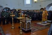 В день памяти новомучеников Стародубских епископ Клинцовский и Трубчевский Владимир совершил Литургию в Рождественском храме г. Стародуба