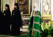 Слово Святейшего Патриарха Кирилла после Литургии в Александро-Невской лавре