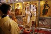 Председатель Синодального отдела по монастырям и монашеству возглавил торжества по случаю престольного праздника Николо-Угрешского ставропигиального монастыря