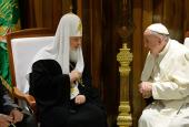 Поздравление Святейшего Патриарха Кирилла Папе Римскому Франциску с 80-летием со дня рождения