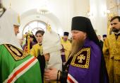 Слово Святейшего Патриарха Кирилла при вручении архиерейского жезла Преосвященному Евфимию (Максименко), епископу Усманскому