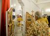 Патриаршее служение в храме свт. Спиридона Тримифунтского в Нагатинском Затоне г. Москвы. Хиротония архимандрита Евфимия (Максименко) во епископа Усманского