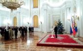 Святейший Патриарх Кирилл принял участие в торжественном новогоднем приеме в Кремле