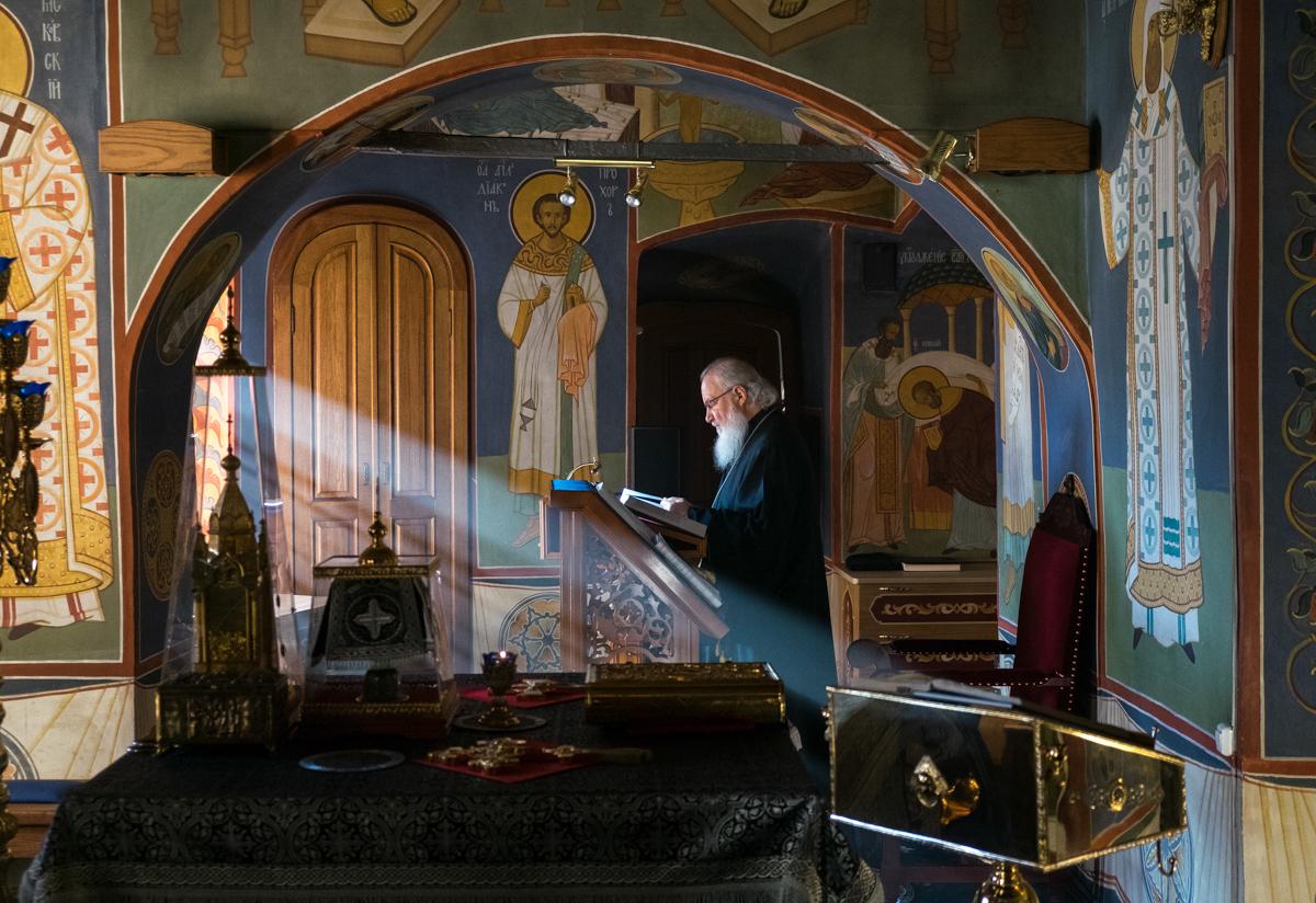 15 марта. Служение во вторник первой седмицы Великого поста в Новоспасском ставропигиальном монастыре