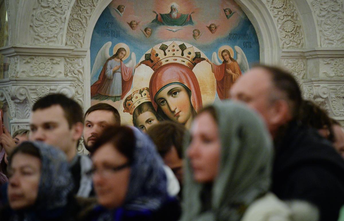 18 марта. Служение в канун субботы 1-й седмицы Великого поста в Зачатьевском ставропигиальном монастыре