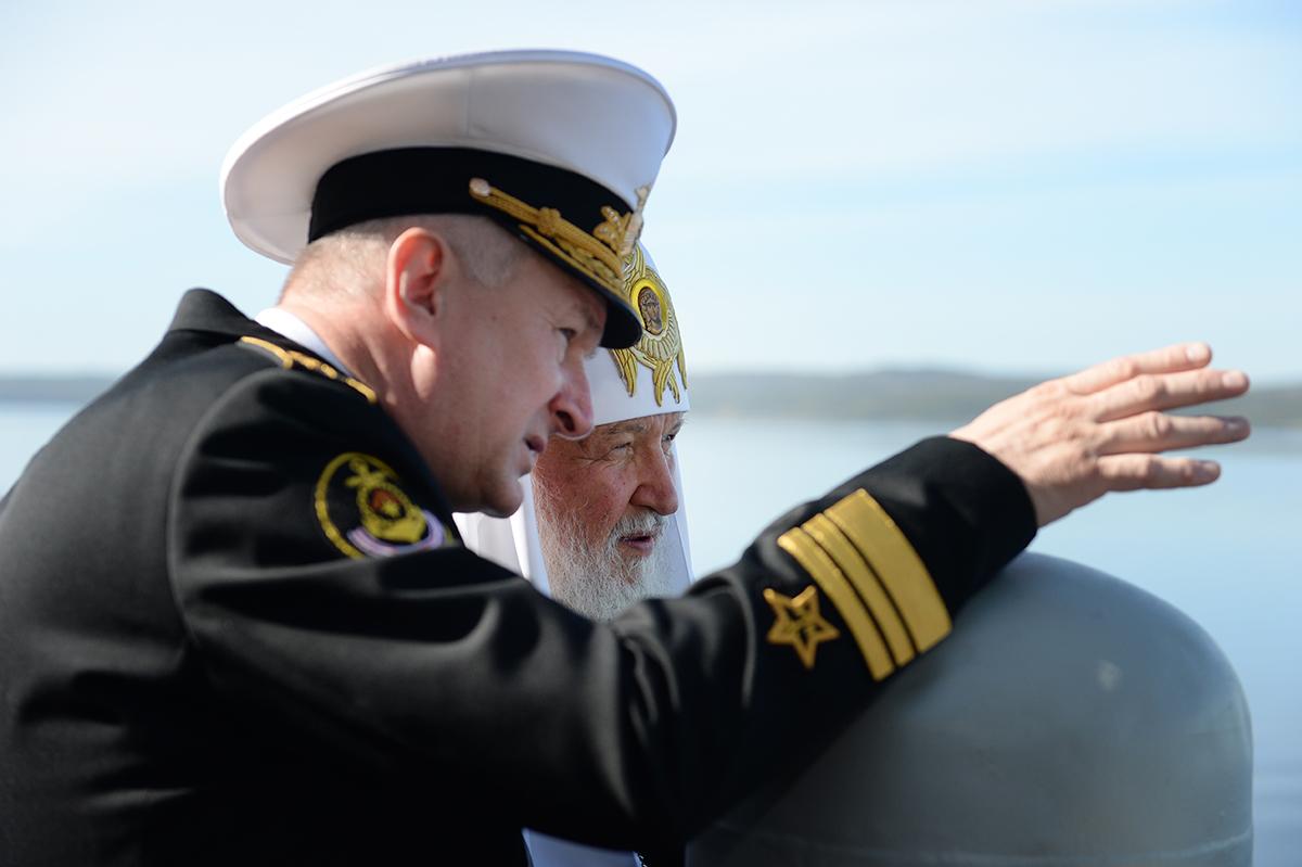 18 августа. Патриарший визит в Мурманскую митрополию. Встреча с моряками Северного флота