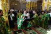 20 августа. Патриарший визит на Соловки. Молебен перед раками с мощами Зосимы, Савватия и Германа Соловецких.