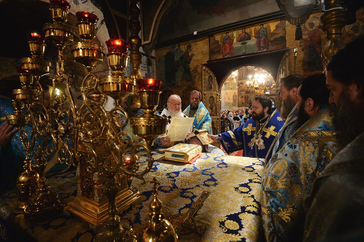 4 ноября. Служение в праздник Казанской иконы Божией Матери Успенском соборе Кремля
