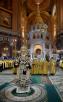 7 января. Служение в праздник Рождества Христова в Храме Христа Спасителя в Москве