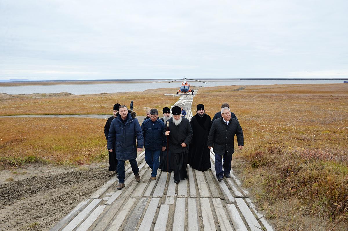 9 сентября. Патриарший визит в Якутскую епархию. Посещение научно-исследовательской станции «Самойловская»
