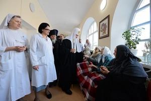 В праздник Рождества Христова Святейший Патриарх Кирилл посетил Больницу святителя Алексия в Москве