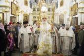 Патриарший экзарх всея Беларуси в праздник Рождества Христова совершил Литургию в Свято-Духовом кафедральном соборе города Минска