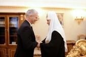 Состоялась встреча Святейшего Патриарха Кирилла с госсекретарем Венгрии по делам религий, национальных меньшинств и гражданских взаимоотношений М. Шолтесом