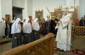 Епископ Орехово-Зуевский Пантелеимон совершил чин посвящения в крестовые сестры насельниц Марфо-Мариинской обители милосердия
